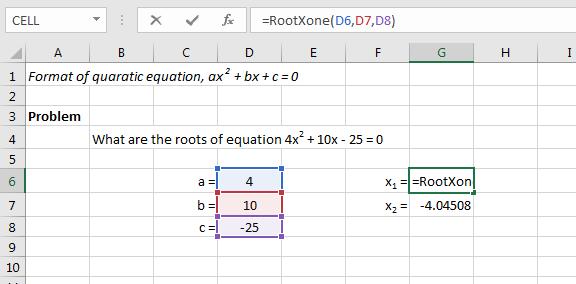 Finding Roots of Quadratic Equation