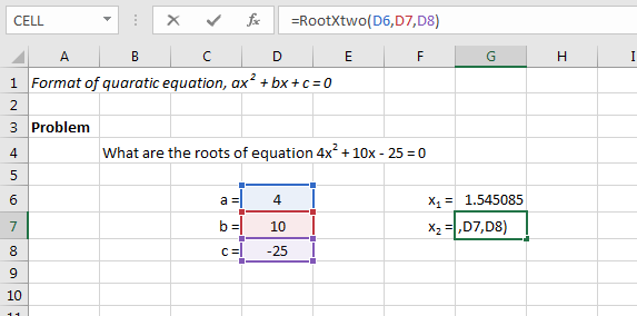 how to find the roots of a quadratic function